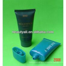 Oval plastic tube for sunblock cream