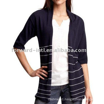 women's striped wap sweater