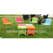 bright colored garden furniture rattan dining set