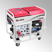 8kw Air-Cooled Two Cylinder Gasoline Generator with Wheels (GG12000E)