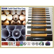 """Tubo de andamio de 48,3 mm (1 """"a 8"""") a JIS, KS, ASTM .. o tubería de acero galvanizada en caliente, tubería GI"""