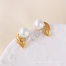 Mutilcolor plateó el pendiente de la manera de la perla (23773)