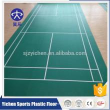 Litchi grain professional badminton court use PVC sports floor