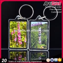 Artigifts Wholesale Blank Clear acrylic photo frame keychain