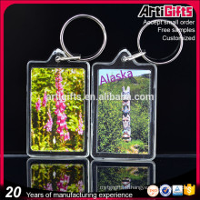 Artigifts gros blanc clair cadre photo acrylique porte-clés