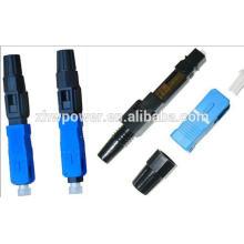 Conector rápido de fibra óptica SC / APC, conector rápido de montagem SC, conector rápido ótico SC / UPC