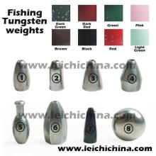 Tous les types de poids de pêche au tungstène disponibles