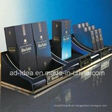 Nützlicher schwarzer Acrylzahnstangen-Standplatz / Anzeige für Kosmetik