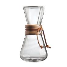 Cafetière en verre borosilicaté verser sur la cafetière