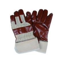 Jersey Liner Handschuh, Streifen Polyster Zurück Nitril Imprägniert, PE Safety Cuff