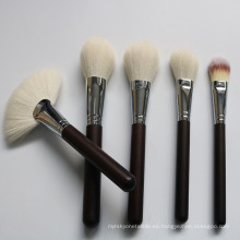 Cepillo de maquillaje 14pcs Cepillo de lana animal