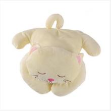 Travesseiro de pelúcia confortável gato