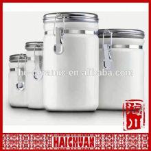 kitchen utensil eco ceramic kitchen spice canister sets