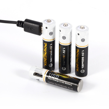 Batterie AAA rechargeable avec chargeur