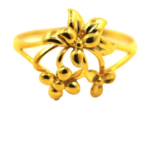Bouquet K Gold Ring