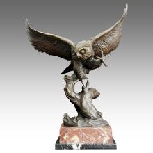 Animal Brass Statue Owl Decoration Bronce Escultura Tpal-202