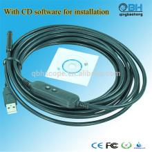 Caméra d'inspection de tuyau d'USB d'égout numérique imperméable de 15M