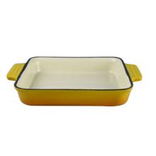 Deep Rectangular dish Enamel Cast Iron Baking Dish