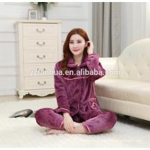 Venta por mayor traje usar inicio de elegante púrpura paño grueso y suave caliente Missy