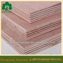 Hardwood Core Red Oak Chapa de madera contrachapada comercial