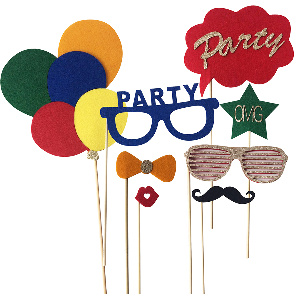 Happy Birthday Party Photo Booth Props