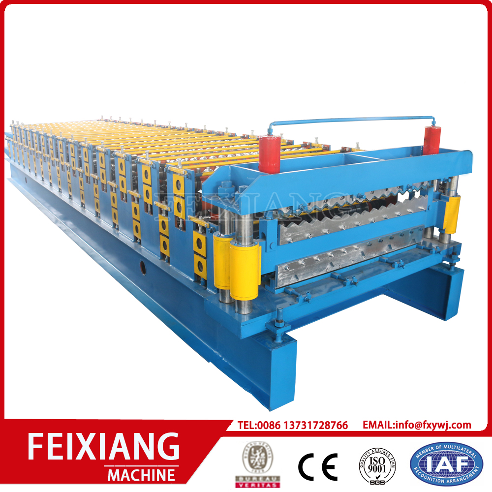Metal Roof Tile Dubbellager Roll Forming Machine