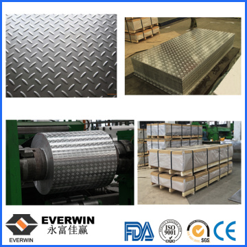 Aluminum Tread Plate with Five Bar 1100 3003