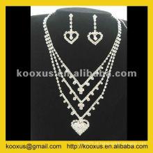 Alta qualidade nupcial do casamento conjunto de jóias da China Yiwu Market