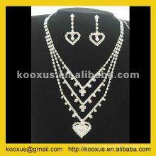 Комплект ювелирных изделий венчания высокого качества bridal установленный от рынка Yiwu Кита