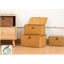 matress grass weaving storage and collecting basket