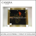 CANOSA shell paper decor Wall Picture with wood frame