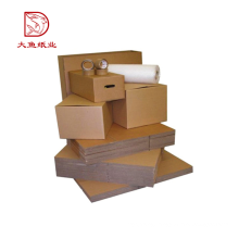 New customized size recyclable brown foldable carton paper box