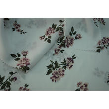 100% Polyester gehämmert Satin Blumendruck Stoff