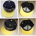 Handmade letters rivet spike studed fashion punk hiphop snapback flat peak cap