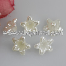 Lucite Flower Beas 12*6MM Pearl Plastic Flower Beads Caps