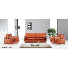 Muebles de oficina modernos Cuero Esquina Seccional Esquina Recepcional Sofá (FU-3)
