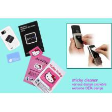 Limpiador de teléfono móvil de goma suave 3D