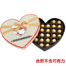 Promotion DIY Merci Chocolte Box with Heart Shap and Tie