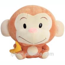 Diseño personalizado mono de peluche con plátano