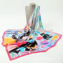 Bufanda cuadrada de seda 2014 de la tela cruzada de la manera