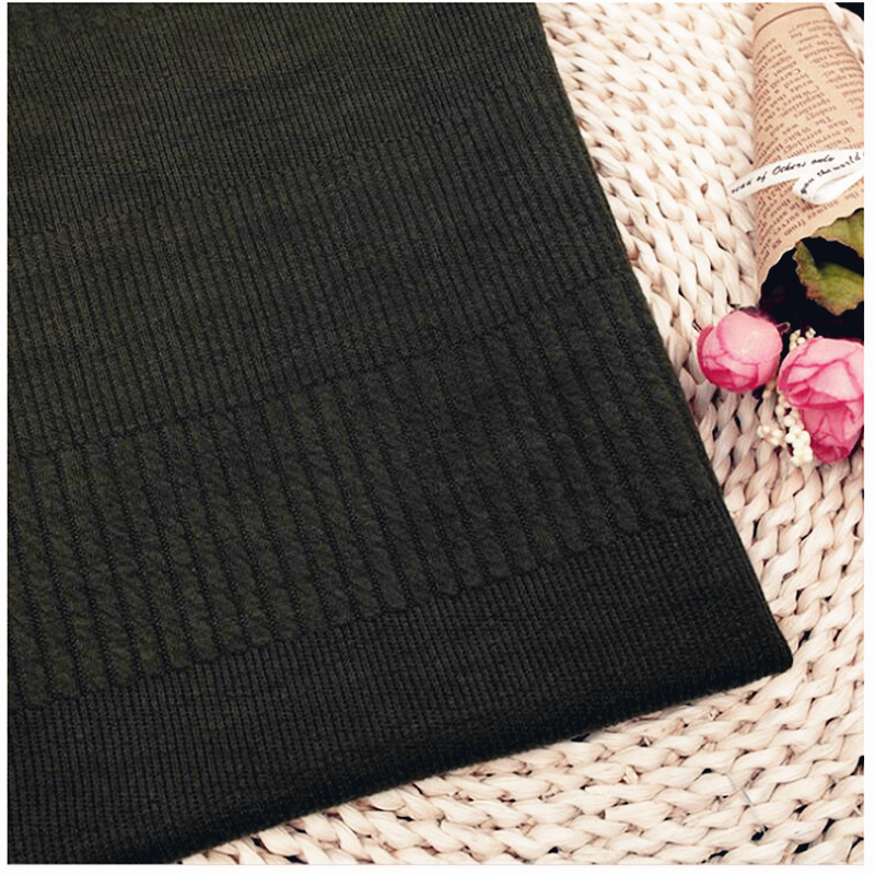 High Quality Black Jacquard Knitting Fashion Fabrics001