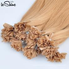 Calidad de primera calidad virgen sin procesar queratina U y yo sugerencia extensión del cabello humano 100%