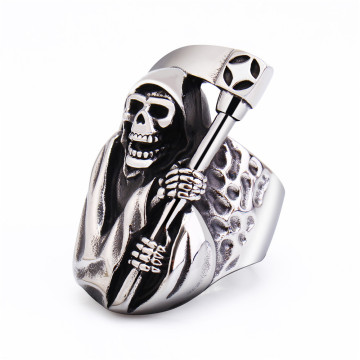 Death Skull Mens Ring Cool Ring para hombre