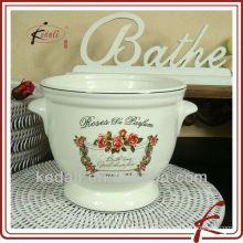 Florero de cerámica y decorativo