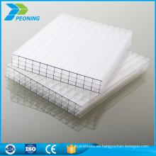 Bayer materias primas de plástico transparente de tres paredes de policarbonato hueco hoja de los paneles de techo
