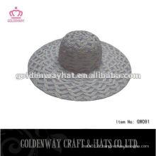 Chapeau de pliage de plage de paille pliante