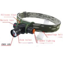 Camouflage 180 Lumens Mini AA / 14500 CREE LED Headlamp