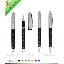 Хорошая письменная кожаная металлическая ручка для подарка