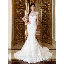 ZM16024 Lace Mermaid Tail Beaded Bodice Sweetheart Wedding Dress French Lace Bridal Dresses Sexy Bridal Gown