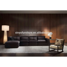 Foshan country style furniture living room cotton velvet sofa set KW1509